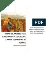 Diseño Del Proceso de Elaboración de Detergente a Partir de La Saponina de La Quinua