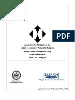 2016 Humphrey Program Form