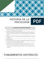 Historia de La Psicologia Introduccion