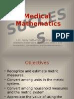 1 PP Medical Mathematics Success