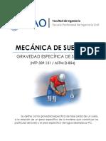 Lab03 - Gravedad Especifica de Solidos - UPAO - SUELOS