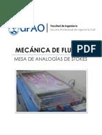 Lab 02 - Mesa de Analogias de Stokes - UPAO - FLUIDOS