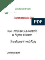 Sistema Nacional Inversión Publica PP