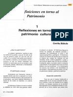 Reflexiones en Torno a Patrimonio Cultural Cecilia Bakula