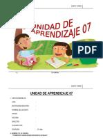 UNIDAD DE APRENDIZAJE  5°  SETIEMBRE  - 2015