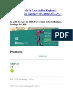 II Congreso de La Asociación Regional Para América Latina y El Caribe ARLAC