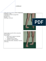 Orthopedics Club Foot
