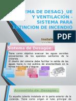 Sistema de Desague y Ventilacion - Sistema Para Incendiosssss