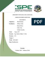 Informe de Esterilización.
