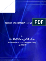 Dr. Roshan Process Optimization