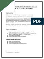 Informe Derechos Consolidados y Beneficios Sociales Al Final de La Relación Laboral