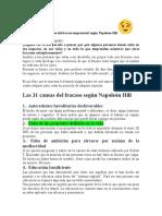 NAPOLEON HILL Las 31 Causas Principales Del Fracaso Empresarial Según Napoleon Hill