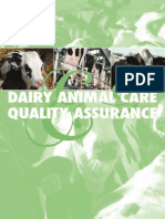 Dairy Animal Care & Quality Assurance Table of Contents