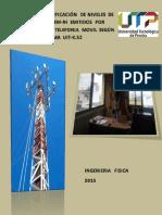 Certificación y Verificación de niveles de intensidad de CEMs - NI generados por estaciones base de telefonía móvil
