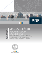 Manual de Jurisprudencias Administrativas de Planes Reguladores