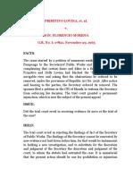 Primitivo Lovina vs Moreno