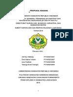 Proposal Magang di Subdit Surveilans dan Respon KLB, Ditjen PP dan PL, Kemenkes RI