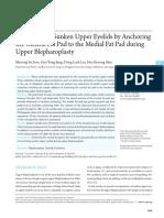 Correction of Sunken Upper Eyelids by Anchoring