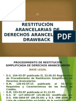 Restitución y Drawback