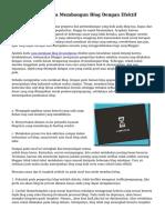 Tips Membuat serta Membangun Blog Dengan Efektif
