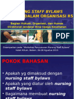 NURSING STAFF BYLAWS
