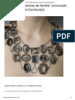 """II Concurso """"Historias de Familia"""" Convocado Por La Fundación Escritura(s)"""
