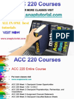 ACC 220 Proactive Tutors/snaptutorial