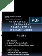 An Analysis of Al-Qaeda as a Trasdnsnational Militant