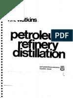 Petroleum Refinery Distillation_Watkins R.N
