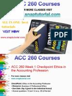 ACC 260 Proactive Tutors/snaptutorial