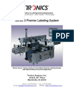 Front and Back Wraparound Labeler - Tronics Series 3 Premier Labeling System Brochure, Catalog