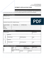 Investment Application Form
