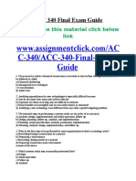 ACC 340 Final Exam Guide
