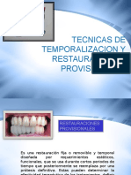 Tecnicas de Temporalizacion y Restauraciones Provisionales