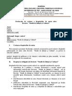 Declaratie Transfer Drepfturi de Autor