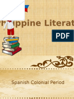 PHILIPPINE LITERATURE ( SPANISH AND AMERICAN COLONIAL PERIOD)