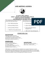 board meeting agenda 1 12 16