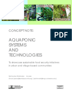 Concept note Aquaponic systems | Aquaponics | Aquarium