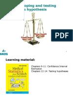 MedI 7 Hypothesis Testing