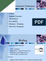 Water Sanitation Techniques