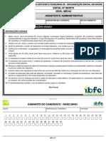 Ibfc 2015 Cep 28 Assistente Administrativo Prova