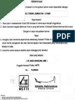 Sertifikat Keahlian Ahli Teknik Jembatan - Utama, Ir. Budi Harsono, MM (Belakang)