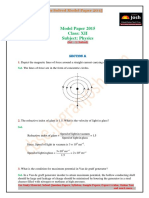 CBSE CBSE Class 12 Physics Solved Model Paper Set 1