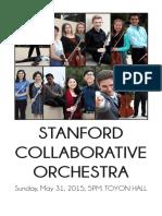 Stanford Collaborative Orchestra Spring 2015 Concert Program