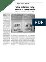 160111 La Verdad- Antonio Morales, Máxima Nota Por Su Tesis Sobre La Masonería