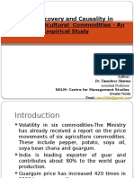 Price Discovery and Causality in Selected Agricultural  Commodities - An Empirical Study