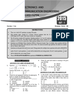 GATE Electronics Communication Solved Paper