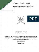 Oman Electricty Standard for 132 KV Lines