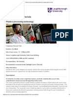 Plastics Processing Technology _ Materials _ Loughborough University