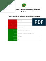 PR-1001b - Trip _ Critical Alarm Setpoint Change
